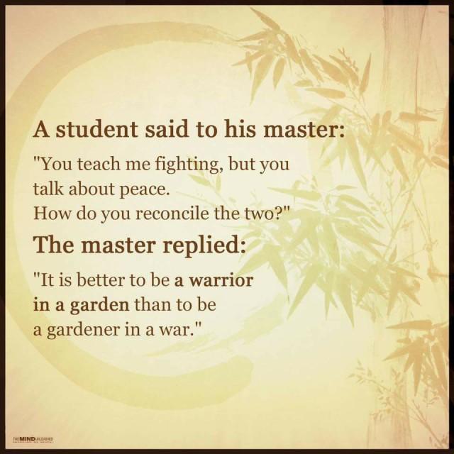 warrior-in-a-garden