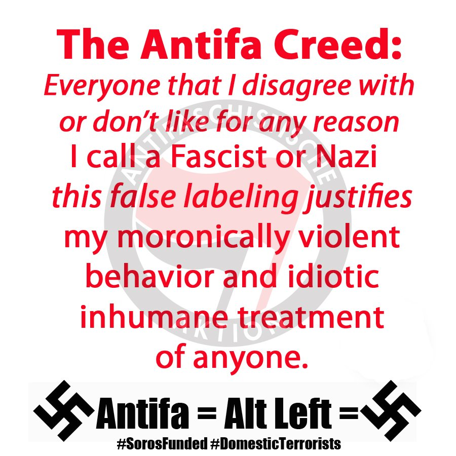 #fightsupremacy Antifa: A Group Of Ignorant Haters Falsely Labeling Anyone  They Disagree With.They Embody The Definition Of U201cfascistu201d