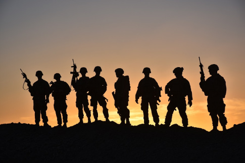 Soldiers from Task Force Stalwart, which is compromised of Soldiers from 1st Battalion, 41st Infantry Regiment, 2nd Brigade Combat Team, 4th Infantry Division, pose for a group photo, March 28, 2018, in a post in the outskirts of Afghanistan. (U.S. Army photo by Sgt. 1st Class Jasmine L. Flowers/2nd IBCT UPAR)